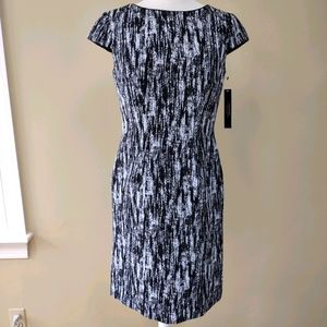Tahari ASL patterned work dress